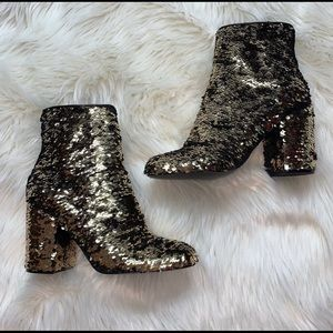 NEW WITH BOX Steve Madden Sequin Georgia Bootie